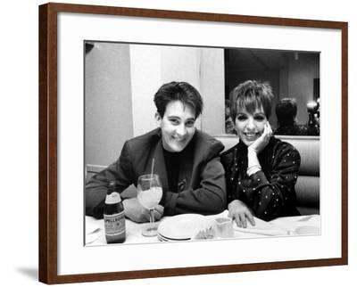 Country/Western Singer KD Lang with Actress Liza Minnelli