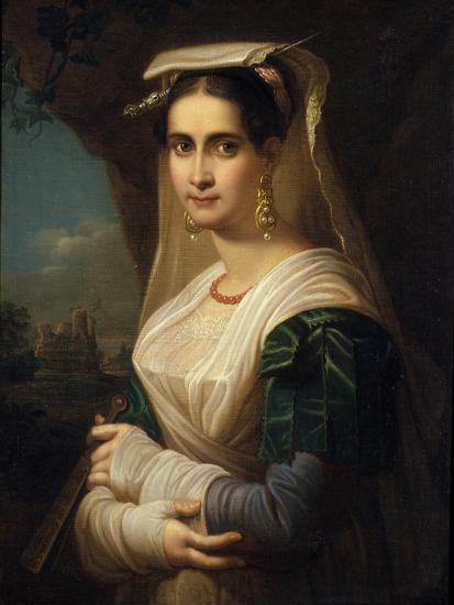 Countrywoman from Albano, 1818-Friedrich Ludwig Theodor Doell-Giclee Print
