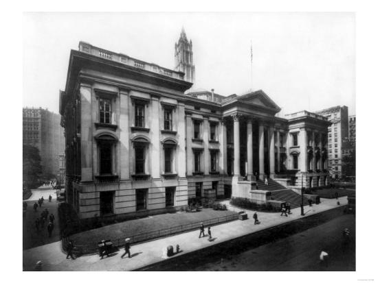 County Court House on Chambers Street NYC Photo - New York, NY-Lantern Press-Art Print