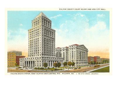 County Courthouse, Atlanta, Georgia--Art Print