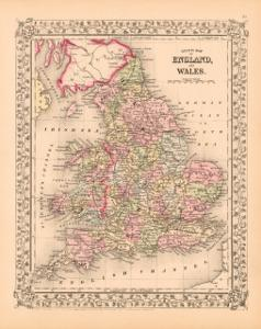 County Map of England and Wales, c.1867
