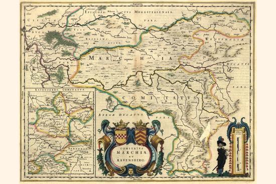 County Of Mark And Ravensburg-Willem Janszoon Blaeu-Art Print