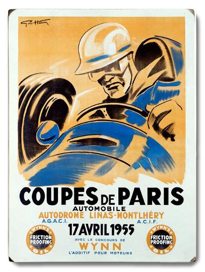 Coupes de Paris/1955--Wood Sign