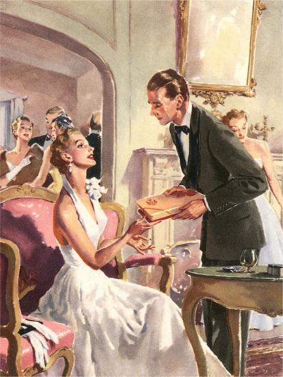Couple at Fancy Dress Ball--Art Print