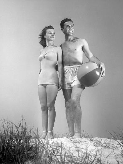 Couple at the Beach-George Marks-Photographic Print
