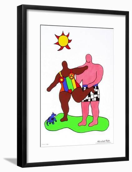 Couple Au Soleil-Niki De Saint Phalle-Framed Premium Edition