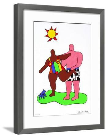 Couple Au Soleil-Niki De Saint Phalle-Framed Premium Edition
