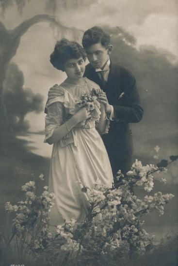 'Couple', c1910-Unknown-Photographic Print