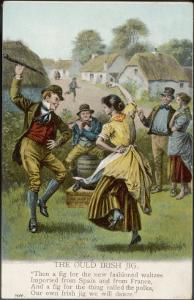 Couple Dance an Irish Jig on the Village Green