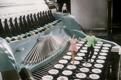 Couple Dancing on the Key of a Giant Typewriter, Keys are Leg of Dancers, Musical