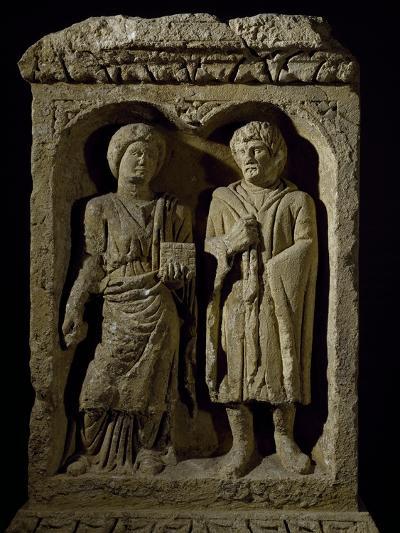 Couple, Detail Relief from Pillar of Dancer, Arlon, Belgium--Giclee Print