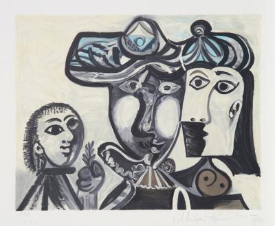 Couple et Enfant au Rameau D'Olivier, 27-1-Pablo Picasso-Premium Edition