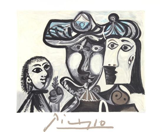 Couple et Enfant au Rameau D'Olivier-Pablo Picasso-Collectable Print