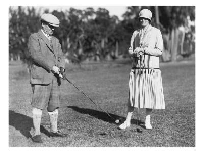 Couple Golfing-Underwood-Giclee Print