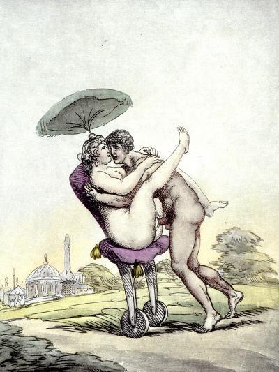 Couple Having Sex on a Wheeled Stool, 1808-17-Thomas Rowlandson-Giclee Print