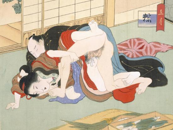 Couple Having Sex-Japanese School-Giclee Print