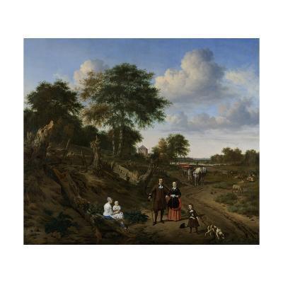 Couple in a Landscape, 1667-Adriaen van de Velde-Giclee Print