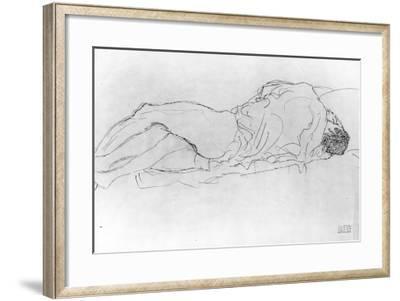 Couple in Bed, c.1915-Gustav Klimt-Framed Giclee Print