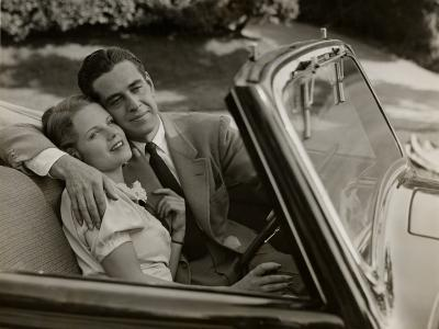 Couple in Convertible Car-George Marks-Photographic Print