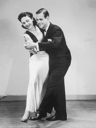 Couple in Formal Wear Dancing--Photographic Print