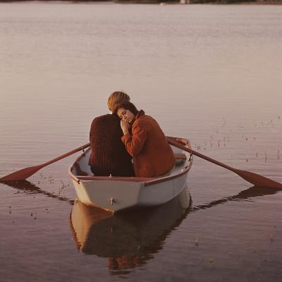 Couple in Rowboat-Dennis Hallinan-Photographic Print