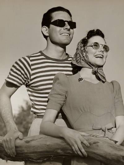 Couple in Sunglasses-George Marks-Photographic Print