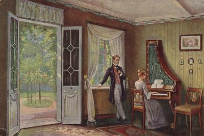 Couple in their Home--Giclee Print