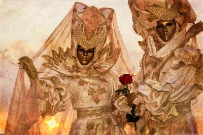 Couple in Venetian Costume 4-Ursula Kuprat-Photographic Print