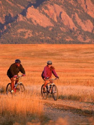 Couple Mountain Biking, CO-Chris Rogers-Photographic Print