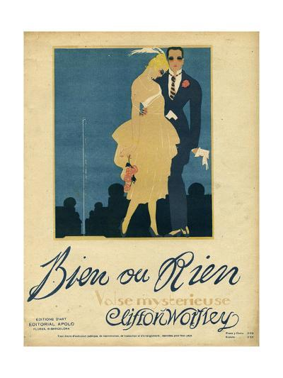Couple, Music Sheet 1920--Giclee Print