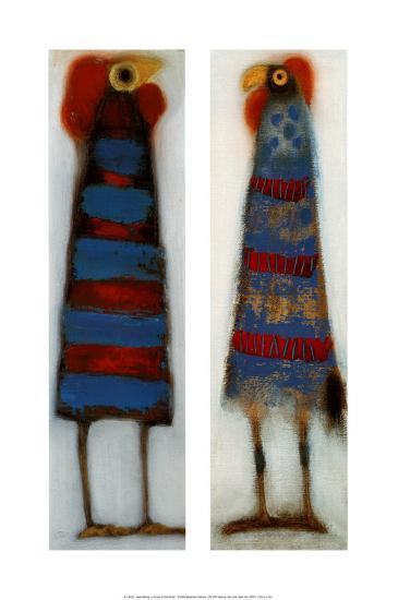 Couple of Odd Birds I-Janet Waring-Art Print