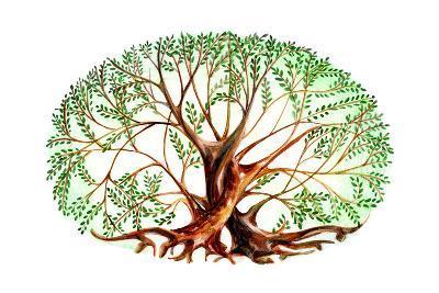 Couple of Trees-okalinichenko-Art Print