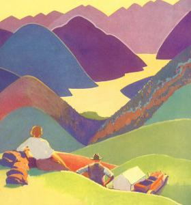 Couple on Hills, 1927