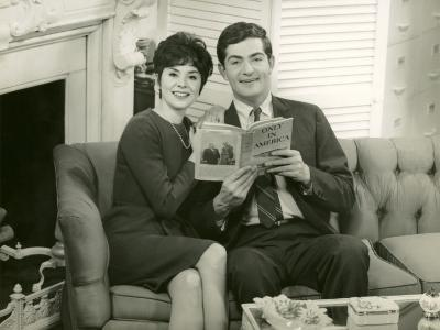 Couple Reading Together on Couch-George Marks-Photographic Print