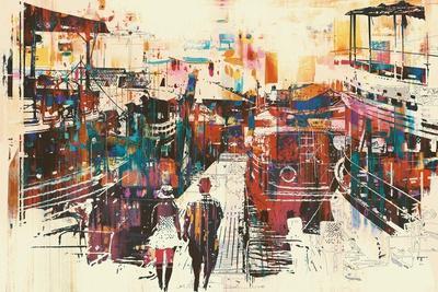 https://imgc.artprintimages.com/img/print/couple-walking-on-harbor-pier-with-colorful-boats-illustration-painting_u-l-q1ao6jn0.jpg?p=0