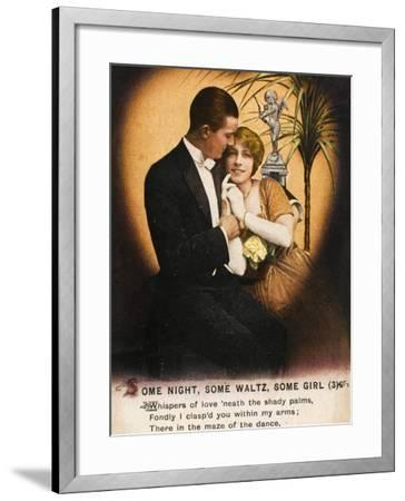 Couple Waltz 1914--Framed Photographic Print