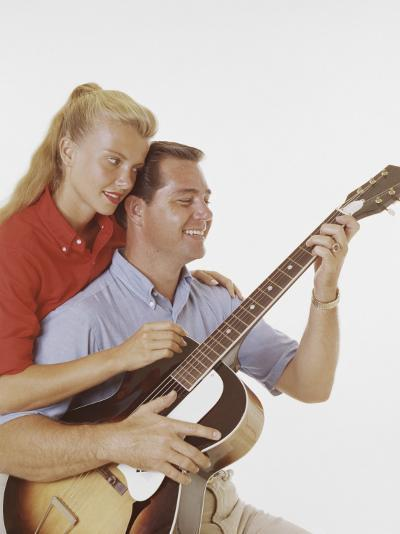 Couple with Guitar-Dennis Hallinan-Photographic Print