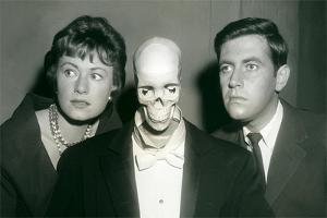 Couple with Skeleton in Suit