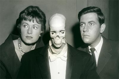 Couple with Skeleton in Suit--Art Print