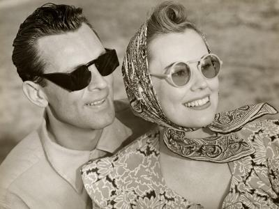 Couple With Sunglasses-George Marks-Photographic Print