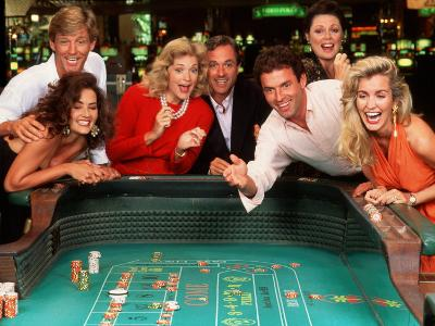 Couples Enjoying Themselves in a Casino-Bill Bachmann-Photographic Print