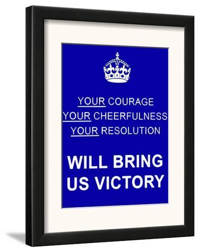 Courage--Framed Art Print