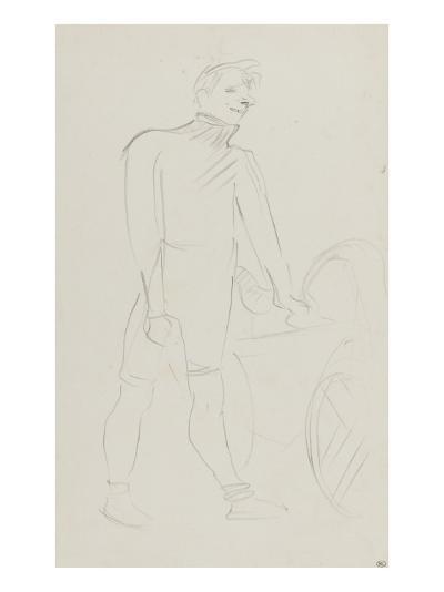 Coureur cycliste : Zimmerman et sa machine, 1894-Henri de Toulouse-Lautrec-Giclee Print