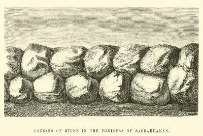 Courses of Stone in the Fortress of Sacsahuaman-?douard Riou-Giclee Print