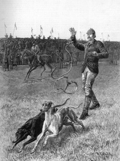 Coursing: Slipping the Greyhounds, 1887-Stephen T Dadd-Giclee Print