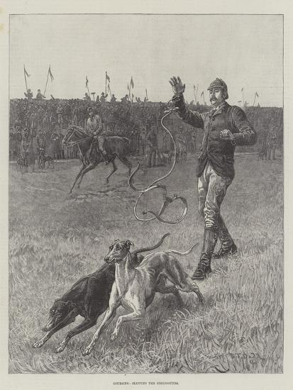 Coursing, Slipping the Greyhounds-S^t^ Dadd-Giclee Print