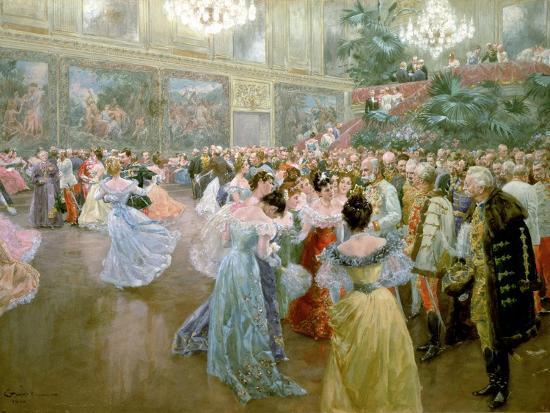 Court Ball at the Hofburg, 1900-Wilhelm Gause-Giclee Print