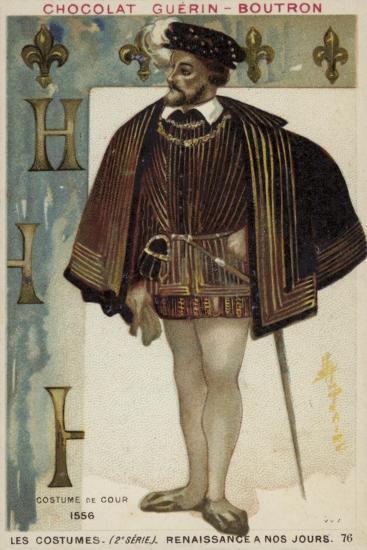 Court Dress, 1556--Giclee Print