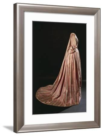 Court Dress in French Silk Pekin, Salmon-Pink Ground Ornamented with Three Ribbon Types--Framed Giclee Print