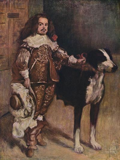 Court Dwarf Don Antonio El Ingles, (1640-1645), 1903-Diego Velazquez-Giclee Print
